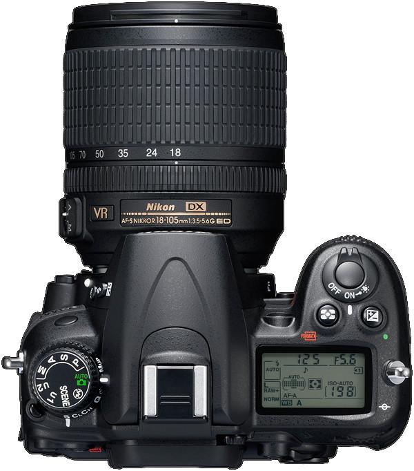 le Nikon D7000 de dessus