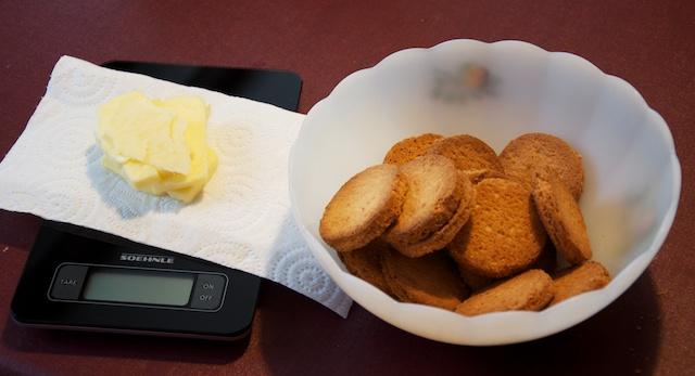 Étape 3 : Les biscuits et le beurre sont prêts