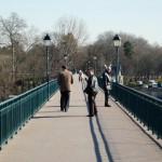 La passerelle sur la Seine de StCloud, à côté de ma société.