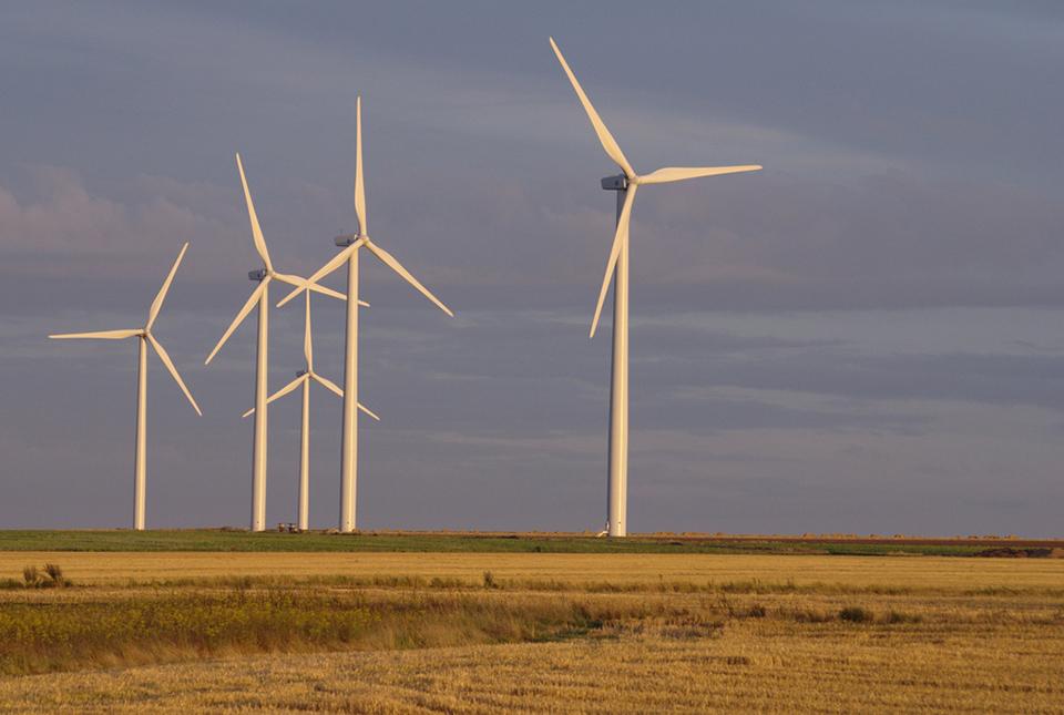 Champ d'éoliennes à Caen
