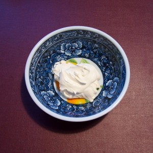 De la belle crème épaisse de chez mon crémier.